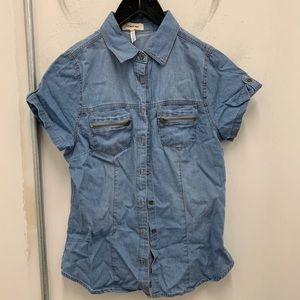 Tops - Denim Button Up Top
